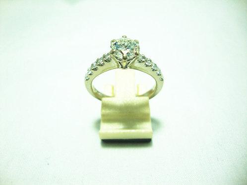 18K WHITE GOLD DIA RING 1/1.25CT 10/70P