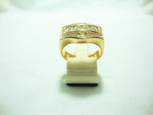 916 GOLD DIA RING 4/80P 21/42P