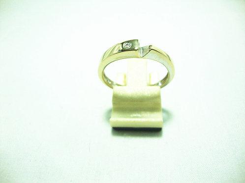 18K WHITE GOLD DIA RING 1/2P