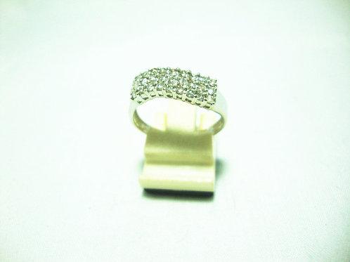 18K WHITE GOLD DIA RING 27/81P