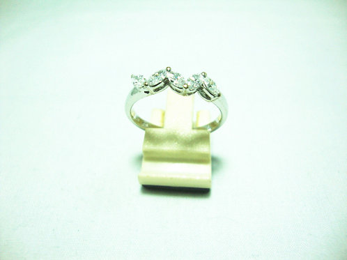 18K WHITE GOLD DIA RING 5/100P