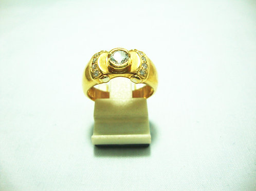 18K GOLD DIA RING 1/25P 8/8P