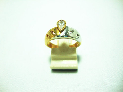 18K GOLD DIA RING 30P