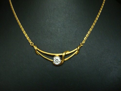 18K GOLD DIA NECKLACE 45P