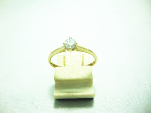 18K WHITE GOLD DIA RING 1/16P