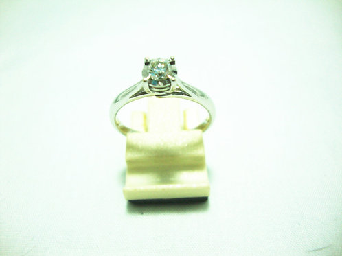 14K WHITE GOLD DIA RING 1/20P