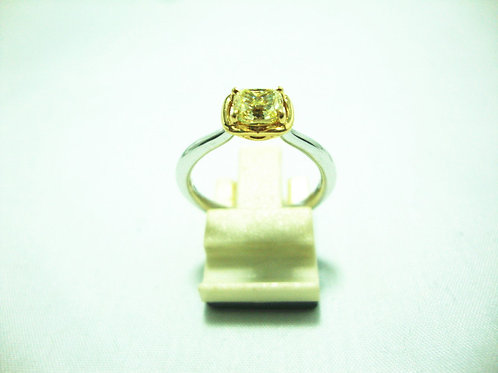 18K WHITE GOLD DIA RING 1/74P