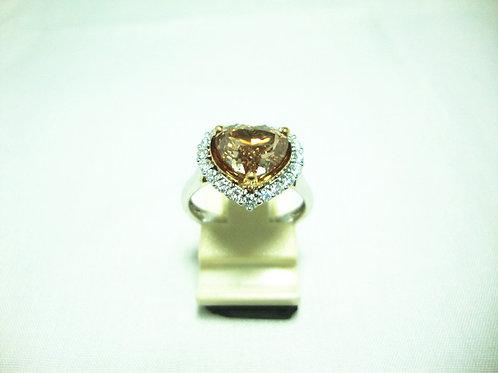18K WHITE GOLD DIA RING 1/250P 19/57P ( CERT )