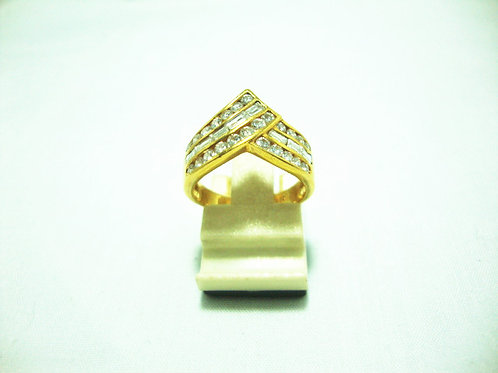 20K GOLD DIA RING 100P