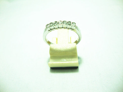 14K WHITE GOLD DIA RING 7/15P