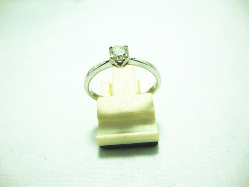 18K WHITE GOLD DIA RING 1/22P