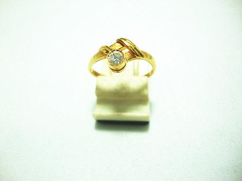 14K GOLD DIA RING 1/15P