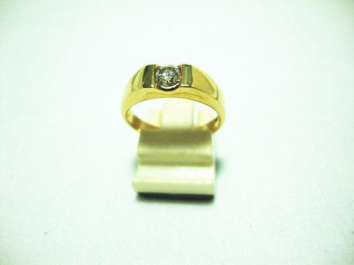 18K GOLD DIA RING 1/35P