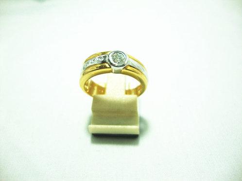 18K GOLD DIA RING 1/35P 3/12P