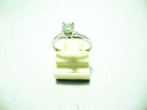 14K WHITE GOLD DIA RING 1/33P