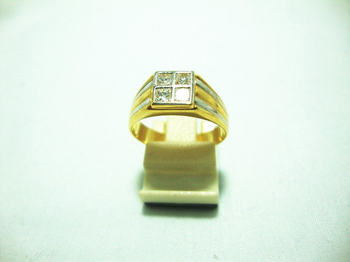 20K GOLD DIA RING 50P