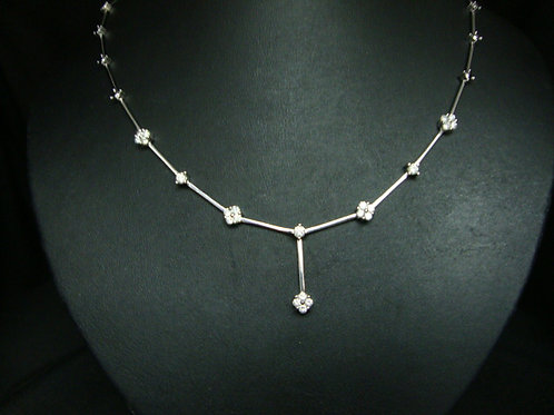 18K WHITE GOLD DIA NECKLACE 20/100P 3/30P