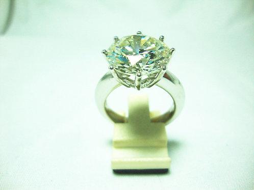 18K WHITE GOLD DIA RING 1/10.06CT ( CERT )