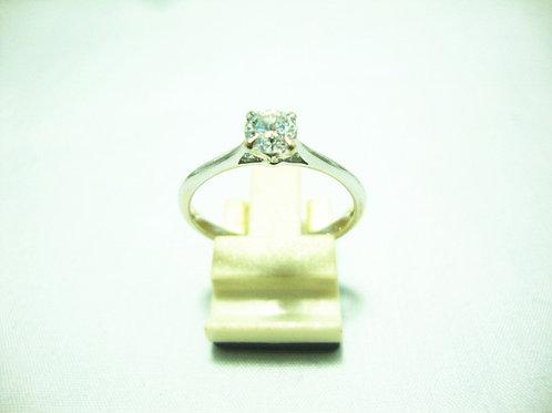 18K WHITE GOLD DIA RING 1/45P