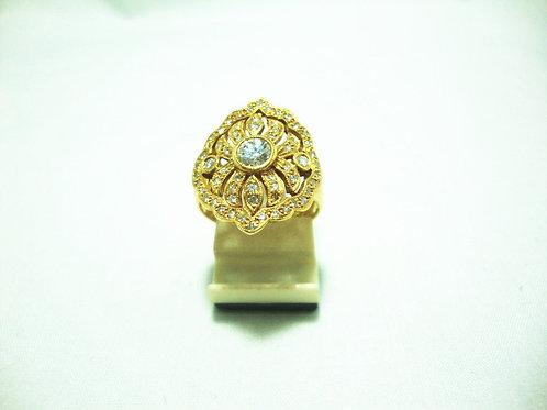 18K GOLD DIA RING 1/20P 59/61P