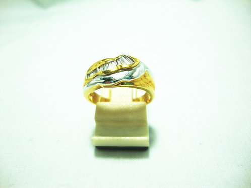 14K GOLD DIA RING 21P