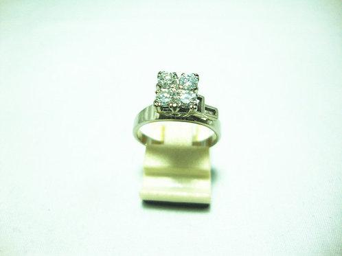 18K WHITE GOLD DIA RING 4/60P