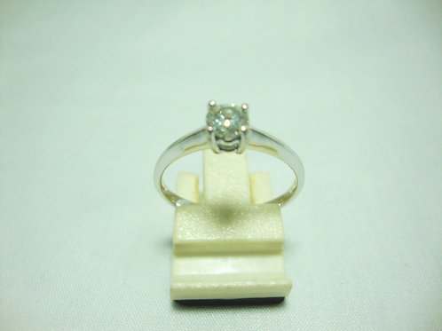 18K WHITE GOLD DIA RING 1/32P