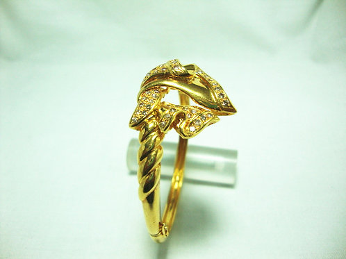 18K GOLD DIA BANGLE 100P