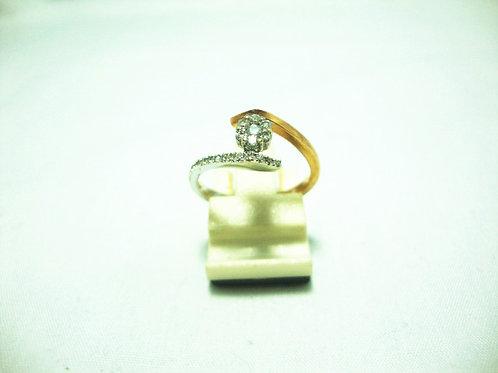 18K WHITE GOLD DIA RING 21/21P