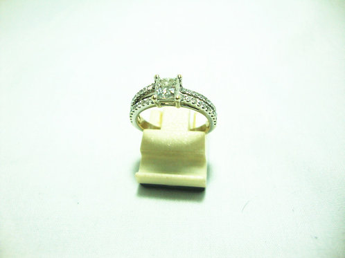 18K WHITE GOLD DIA RING 1/55P 40/40P