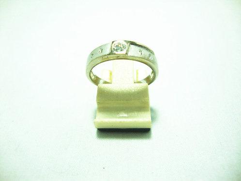 18K WHITE GOLD DIA RING 1/10P 4/4P