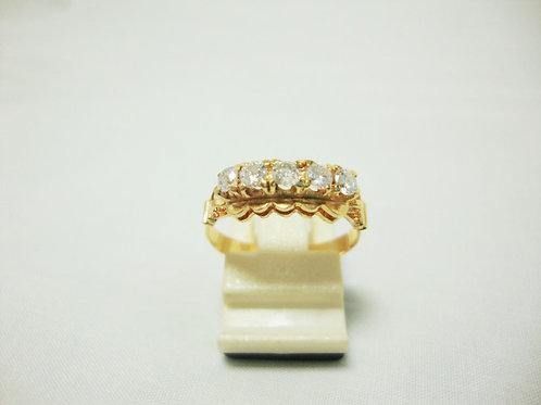 18K GOLD DIA RING 5/50P