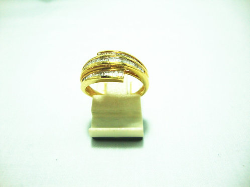 18K GOLD DIA RING 110P