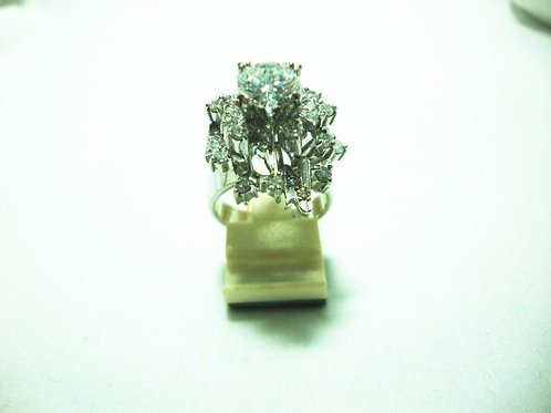 18K WHITE GOLD DIA RING 1/1.2CT 30/60P