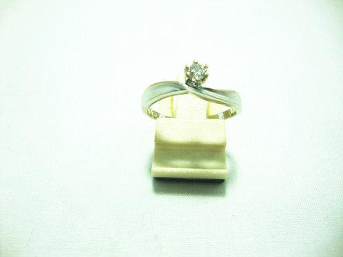 18K WHITE GOLD DIA RING 1/10P