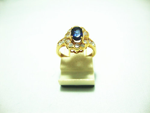 14K GOLD DIA SAPPHIRE RING 50P
