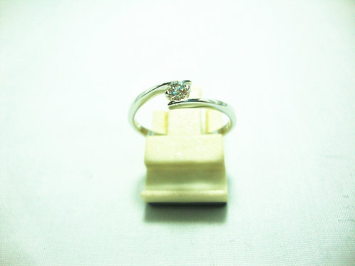 18K WHITE GOLD DIA RING 1/12P