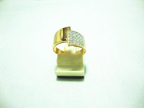 18K GOLD DIA RING 21/21P