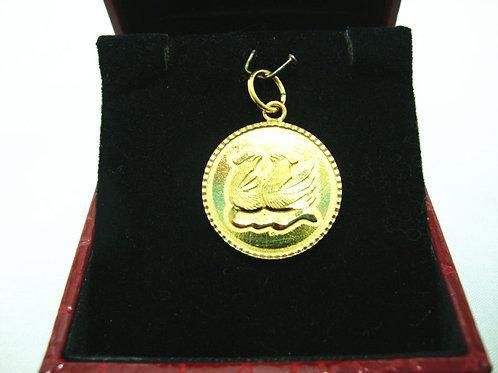 916 GOLD PENDANT