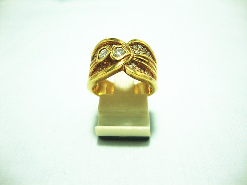 18K GOLD DIA RING 60P