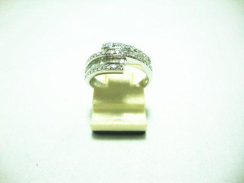 18K WHITE GOLD DIA RING 42/42P T38/38P