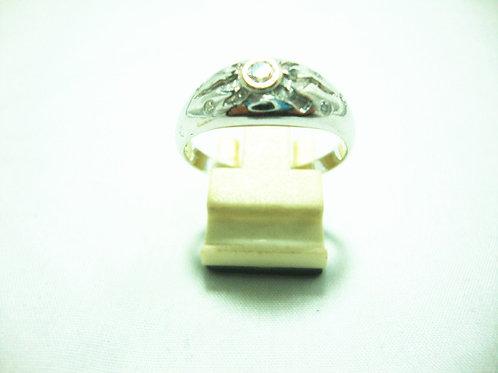 18K WHITE GOLD DIA RING 1/10P 5/5P