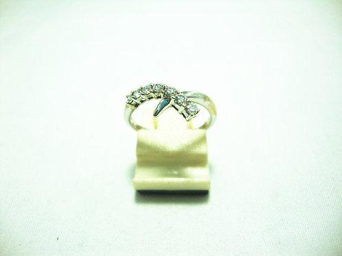 18K WHITE GOLD DIA RING 4/12P 13/15P