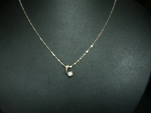 18K WHITE GOLD DIA NECKLACE 1/12P