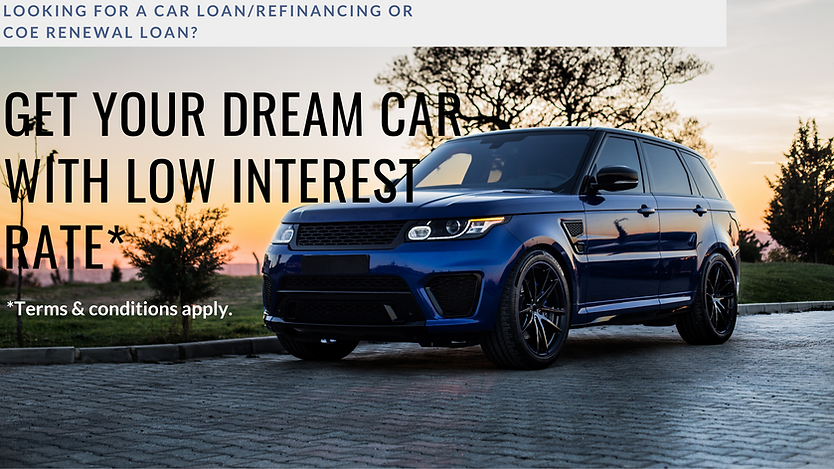 Looking for a car loaNREFINANCING OR COE