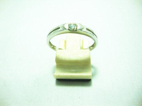 18K WHITE GOLD DIA RING 1/14P