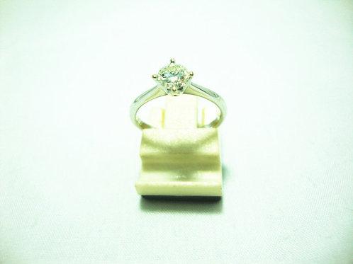 18K WHITE GOLD DIA RING 1/40P