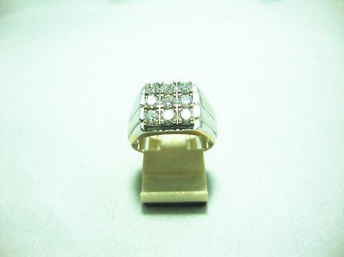 20K WHITE GOLD DIA RING 9/72P
