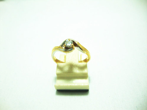 20K GOLD DIA RING 1/13P