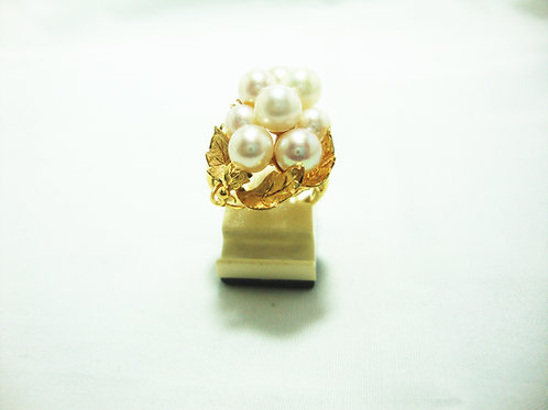 916 GOD PEARL RING